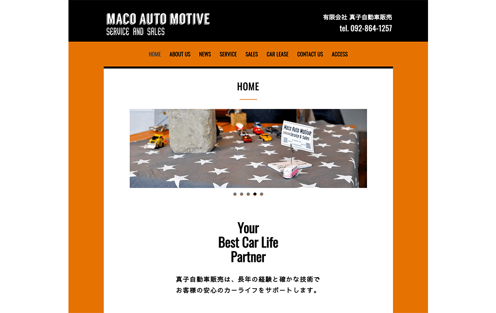 MACO AUTO MOTIVE service & sales / Website